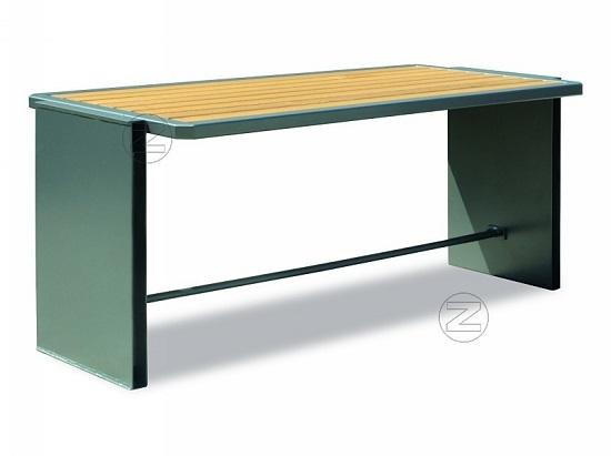 Stół NATURA z drewnianym olistwowaniem