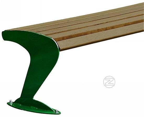 Ławka ALBATROS z drewnianym olistwowaniem