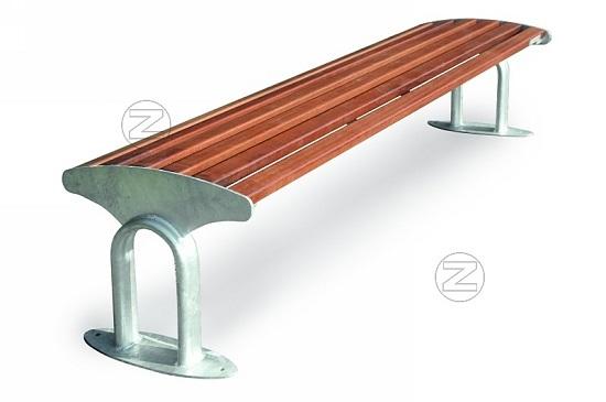 Ławka TAURUS z drewnianym olistwowaniem