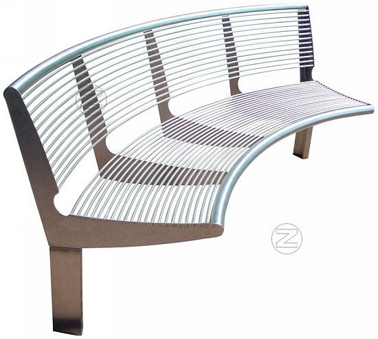 Okrągła ławka CARPI z oparciem