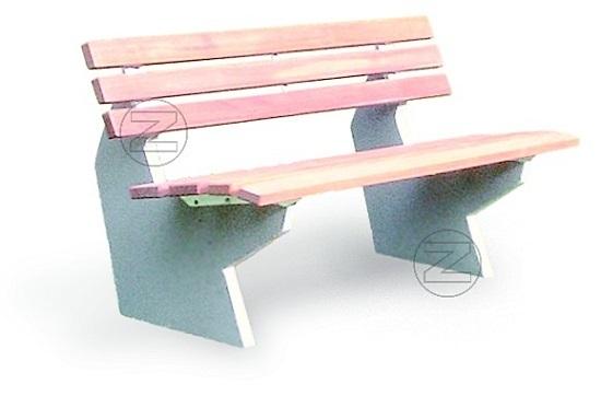 Ławka SICILIA z olistwowaniem drewnianym