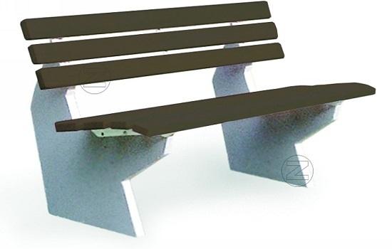 Ławka SICILIA z listwami z tworzywa