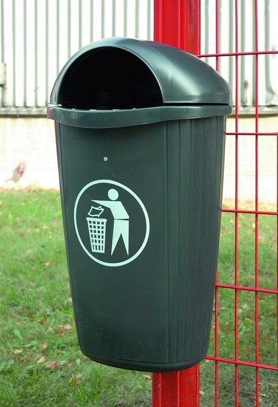 Kosz na śmieci BRADFORD z tworzywa sztucznego