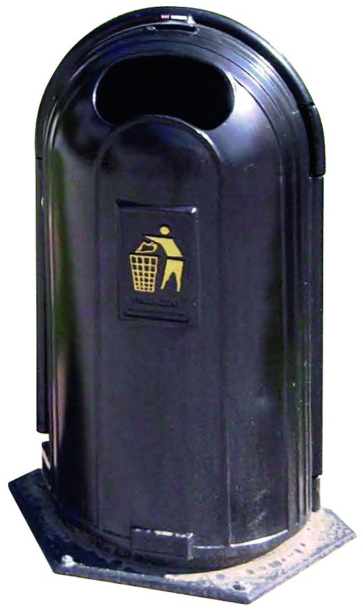 Kosz na śmieci PABLO z odlewu żeliwnego