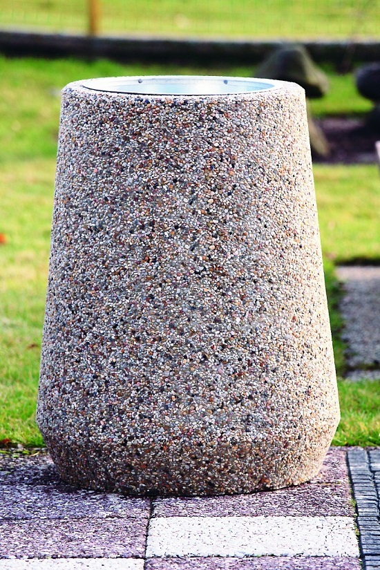 Kosz na śmieci SUPER z betonu