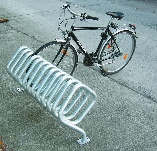 Stojak rowerowy QUADRA ze stali nierdzewnej