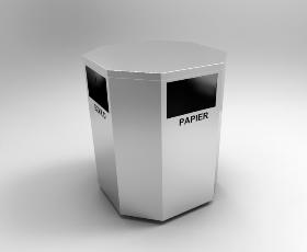 Kosz do selektywnej zbiórki odpadów WINSLOW