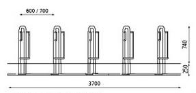 Stojak rowerowy MISSOURI ze stali