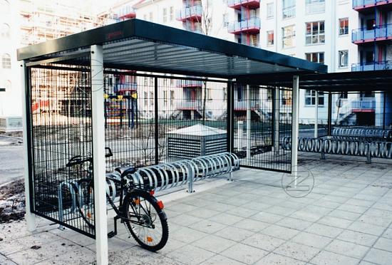 Zadaszenie rowerowe LUNA jednostronne