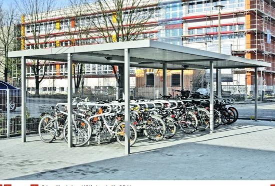 Zadaszenie rowerowe LUNA dwustronne