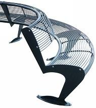 Okrągła ławka ALBATROS ze stali okrągłej