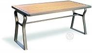 Stół GAMMA z drewnianym olistwowaniem