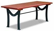 Stół ROMA z drewnianym olistwowaniem