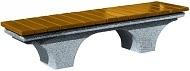 Ławka RAGUSA z drewnianym olistwowaniem