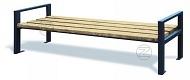 Ławka VARESE z drewnianym olistwowaniem