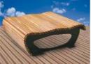 Ławka FLOW z drewnianym olistwowaniem