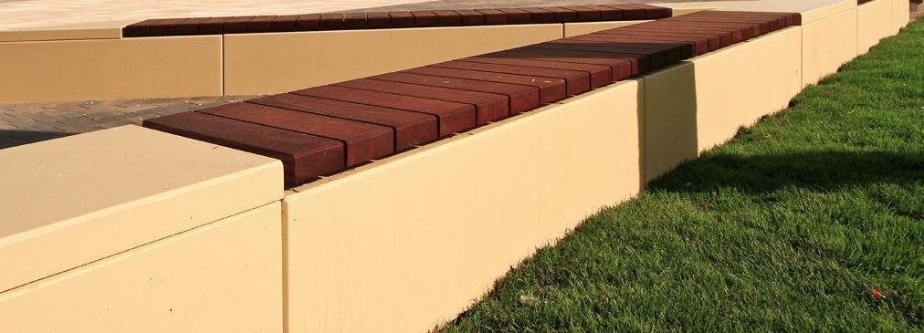 Siedzisko ZENO z betonu architektonicznego