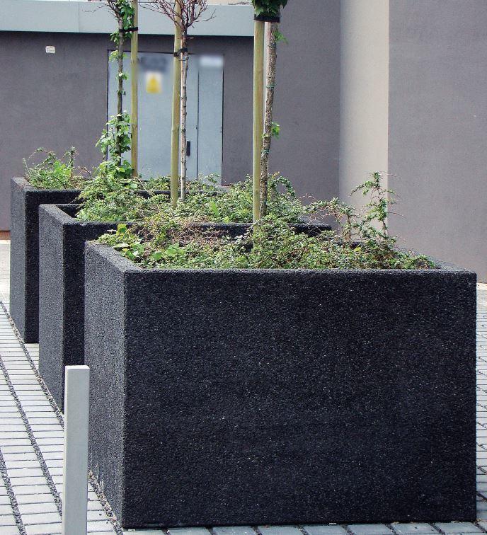 Donica LISA z betonu płukanego